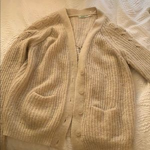 "Small ""kimchi blue"" tan knit sweater"